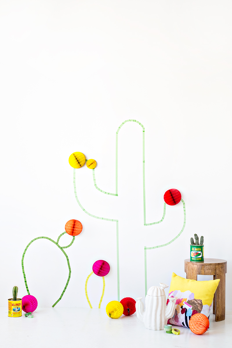 DIY-Washi-Tape-Cactus-Wall-Art